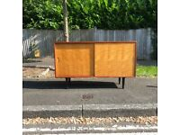 Heals Mid Century Sideboard Mahogany & Satinwood 1950s Restored Vintage Retro