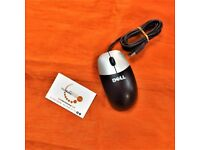 Dell Mouse (Refurbished, Black and Silver)