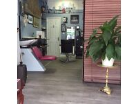 Hair salon for sale furnished with sun bed included in price (ravishing furniture)
