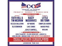 Country 2 Country Weekend Tickets O2 London 9th-11th March