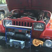 1990 jeep yj with 350 fuel injected crate motor...trades?