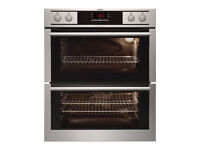 AEG NC4013001M Double Built-Under Electric Oven, Stainless Steel- Grade A