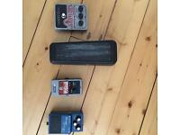 Guitar effects pedals - fuzz, phaser, blues driver, wah