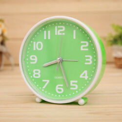 Portable Small Clock Non-ticking Table Desk Alarm Clock for Heavy Sleeper 04