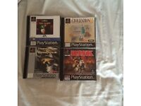 PLAYSTATION 1 MINT CONDITION GAMES