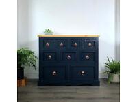 Blue merchant chest