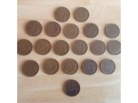 20 Queen Elizabeth 11 British Half Penny Coins all from the 1960's for sale  Shoeburyness, Essex