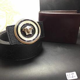 Designer belt and wallet combo