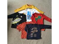 Boys long sleeve top bundle age 2-3 years