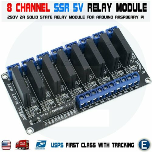 8 Channel 5V DC Relay Module Solid State Low Level SSR AVR DSP For Arduino