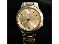 Seiko 5 - Stainless steel watch (21 jewels, automatic - no battery needed)