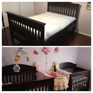 Convertible crib to bed — two availabled