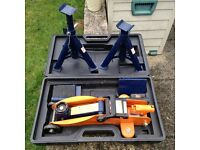 2 Tonne RAC Trolley Jack and Axle Stand Set