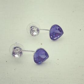 Swarovski wire earrings