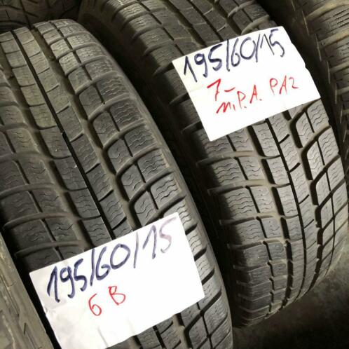 2 x Michelin Pilot Alpin PA2 195-60-15 Winterbanden 7mm