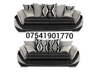 Black and grey toni 3+2 seater sofas**Free delivery**