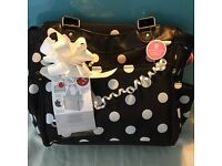 Stylish tote changing bag for the new mum.