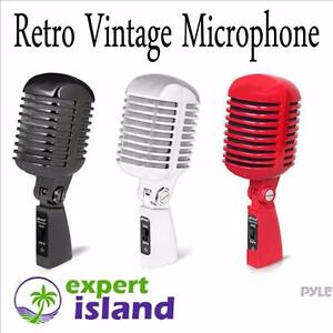 PYLE PDMICR42 Classic Retro Vintage Style Dynamic Vocal Microphone - RED, BLACK or CHROME
