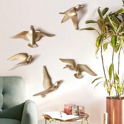 Skulpturen Home Decor (5 Stücke 3D Harz Seagull Wandskulpturen Home Decor Hängende Dekorationen)
