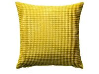IKEA yellow chenille cushion cover 50x50cm perfect condition