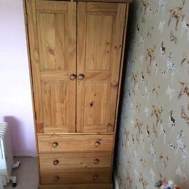 Child's pine wardrobe