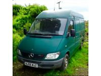 2006 Mercedes Sprinter 311 2.2 Cdi Diesel High Roof MWB Medium Size 2 Front Seats ROAD TAX and MOT