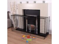 LARGE Black child safety fire guard