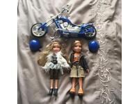 Bratz dolls and motorcycle