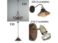 Slightly used lamps