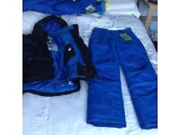 No fear ski jacket padded trousers NEW suit size adult small