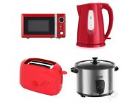 Microwave+rice cooker+kettle+toaster ALL RED