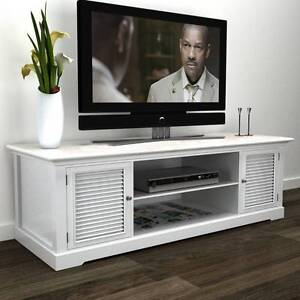 White Wooden TV Stand (SKU 241373) vidaXL Mount Kuring-gai Hornsby Area Preview
