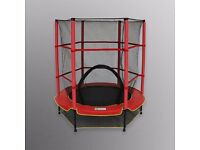 4.5FT Junior Trampoline With Safety Net Kids Toddlers Indoor/Outdoor Trampolines
