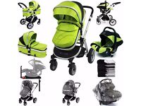 ISafe Travel System with Isofix Car Seat (Pram Stroller Buggy Car Seat)