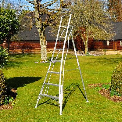 Henchman Garden Platform Tripod Ladder 3xAdjustable Legs   Lightweight Aluminium