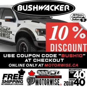 10% OFF Bushwacker Fender Flares at www.motorwise.ca | Online Only | Free Shipping Canada Wide