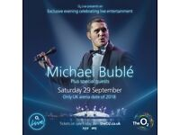 2x Michael Buble standing tickets, O2 arena London, Saturday 29th September 2018