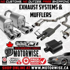 www.Motorwise.ca | Exhaust Systems | Axleback, Catback, Mufflers | Financing Available