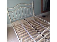 NEXT CREAM METAL BED FRAME - £60 ono