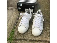 Adidas superstar all white trainers size 6