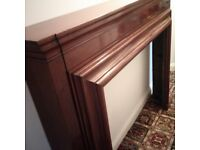 Large solid wood Victorian fire surround