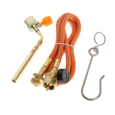 Propane Flame Torch Attachment Soldering Welding Head W Connecting Cable