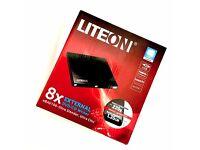 NEW - Unopened - LITEON External DVD/CD writer or burner USB eBAU108