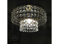Vintage Chandelier Light shade Glass 2 Tier