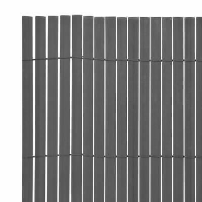 Double-Sided Garden Fence 170 x 500cm Grey Yard Privacy Screen Barrier H0U2