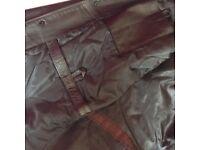 GAP 3/4 length leather men's coat