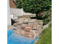 Bricks and mixed gravel
