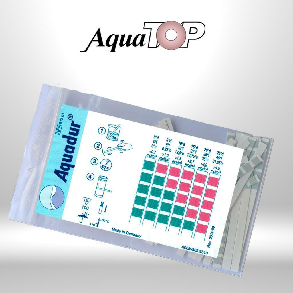 Teststäbchen Wasserhärte Indikatorpapier Kalk Aquadur® Teststäbchen Härtetest