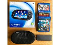 PlayStation Vita (PS Vita) 1000 - 3.60 firmware, with games, memory card, original box and more for sale  Suffolk