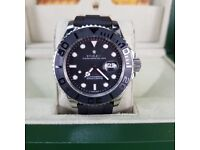 NEW!! Rolex. YachtMaster, Black rubber strap with silver detail. Including box, bag & paperwork.£150